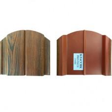 """Металлоштакетник """"Античный дуб""""/коричневый грунт. Толщина покрытия 35 мкм."""