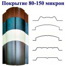 Металлоштакетник двусторонний, полимерное покрытие 80-150 мкм. МАТ.