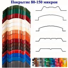 Металлоштакетник двусторонний, полимерное покрытие 80-150 мкм. Глянец.
